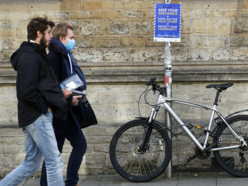 The test should be taken within 24 hours of a student's intended travel date (Steve Parsons/PA)