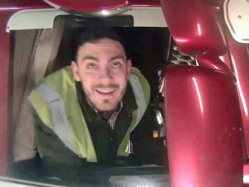Maurice Robinson, 26, was caught on CCTV leaving Purfleet port, Essex (Essex Police/PA)