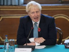 Prime Minister Boris Johnson chairs a Cabinet meeting at the Foreign and Commonwealth Office in London (PA)