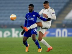 Kelechi Iheanacho scored twice in Leicester's win (Mike Egerton/PA)