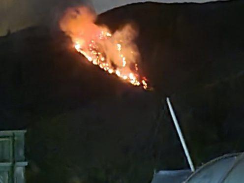 Arthur's Seat in Edinburgh was set on fire (Keith Moodie/PA)
