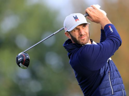 Dustin Johnson made a flying start to round three at the Masters (Gareth Fuller/PA)