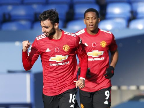 Bruno Fernandes helped Manchester United turn the game on its head (Clive Brunskill/PA)