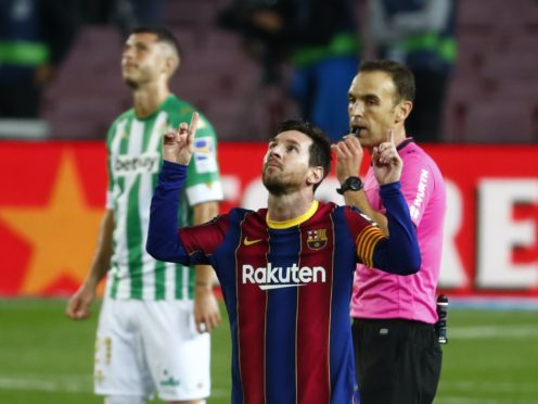 Barcelona captain Lionel Messi produced a brilliant display after coming on at the start of the second half (Joan Monfort/AP)