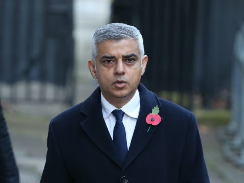 Mayor of London Sadiq Khan arrives in Downing Street, ahead of the Remembrance Sunday service at the Cenotaph, in Whitehall, London (