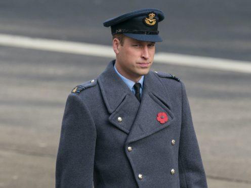 The Duke of Cambridge on Remembrance Sunday (Arthur Edwards/The Sun/PA)
