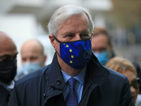 EU's chief negotiator Michel Barnier in Westminster, London, where he is attending meetings as efforts continue to strike a post-Brexit trade deal (Aaron Chown/PA)