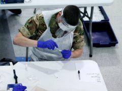 Mass coronavirus testing in Liverpool (Peter Byrne/PA)