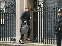 Allegra Stratton, the face of Downing Street's new daily televised press briefings, enters 10 Downing Street (Dominic Lipinski/PA)