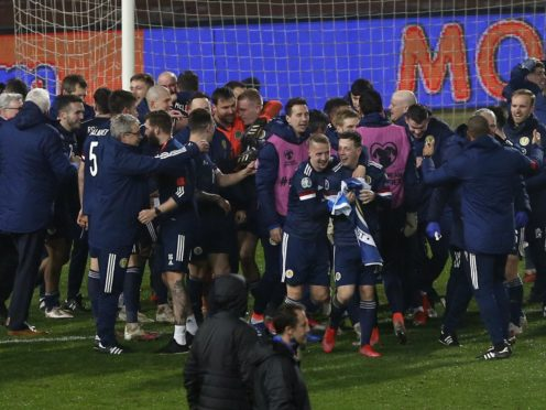 The Scotland men's national team qualified for the delayed Euro 2020 championship after beating Serbia on penalties (Novak Djurovic/PA)