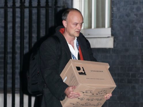 Dominic Cummings leaves Downing Street (Yui Mok/PA)