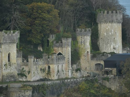 The location for I'm A Celebrity, Gwrych Castle in Abergele, North Wales (Jacob King/PA)