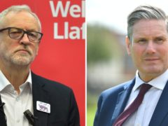 Former Labour leader Jeremy Corbyn and current leader Sir Keir Starmer (Ben Birchall/Jacob King/PA)