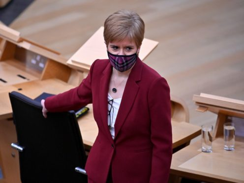 First Minister Nicola Sturgeon said a policy of hospital discharges has not changed and always allowed infected patients to be moved into care homes in 'exceptional circumstances' (Jeff J Mitchell/PA)