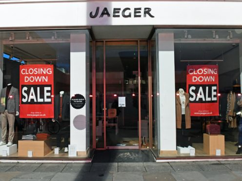 The closed Jaeger store on the King's Road, Chelsea (Stefan Rousseau/PA)