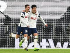 Giovani Lo Celso, left, and Son Heung-min scored for Tottenham in the win over Manchester City (Neil Hall/PA)