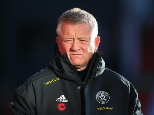 Chris Wilder's Sheffield United are struggling at the wrong end of the Premier League (Mike Egerton/PA)