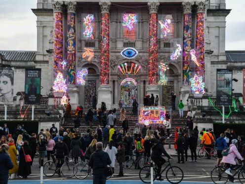 Crowds outside the Tate Britain in Westminster, London (Kirsty O'Connor/PA)