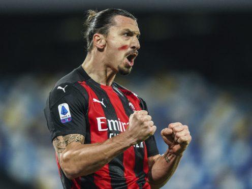 Zlatan Ibrahimovic's brace helped keep AC Milan on top in Serie A (Alessandro Garofalo/AP)