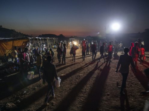 Tigray people who fled the conflict at Umm Rakouba refugee camp in Qadarif, eastern Sudan (Nariman El-Mofty/AP)