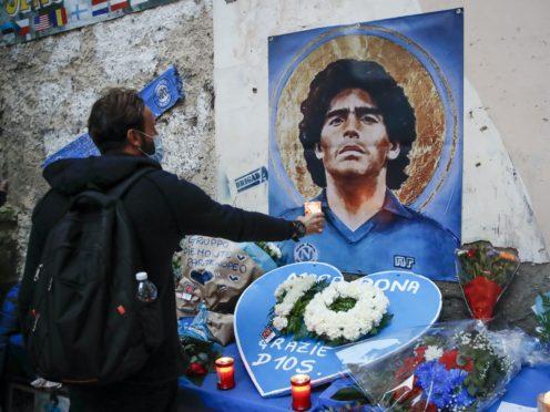 Tributes are being paid to Diego Maradona (Alessandra Tarantino/AP)