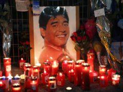 Diego Maradona died on Wednesday aged 60 (Alessandra Tarantino/AP).