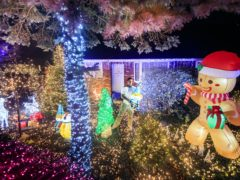 David Pratt said he has decorated his home in York with more than 35,000 outdoor lights (Danny Lawson/PA)