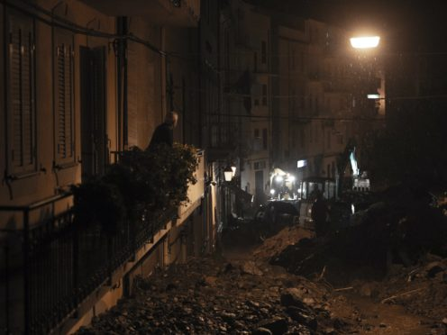 The town of Bitti, Sardinia, Italy, was hit by a storm and flooded by mudslides (Alessandro Tocco/LaPresse via AP)