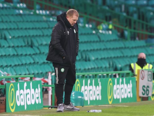 Neil Lennon during defeat by Ross County (Jeff Holmes/PA)