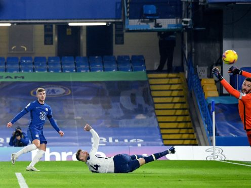 Timo Werner had an effort ruled out for offside in Chelsea's draw with Tottenham (Justin Tallis/PA)