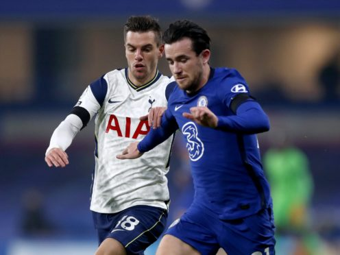 Ben Chilwell, right, has revealed his relief at avoiding injury in Chelsea's goalless draw with Tottenham (Matthew Childs/PA)