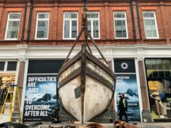 The James Caird, used by the explorer Sir Ernest Shackleton to escape Antarctica (Ian Holdcroft/PA)