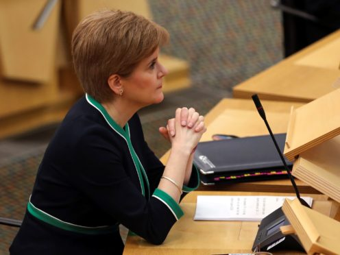 Following coronavirus rules is the 'best gift' Scots can give this Christmas, Nicola Sturgeon said. (Russell Cheyne/PA)