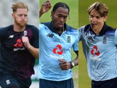 Ben Stokes, Jofra Archer and Sam Curran