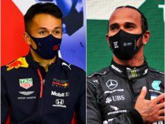 Alexander Albon, left, crashed out as Lewis Hamilton topped the timesheets (Mark Sutton/FIA Pool/PA)