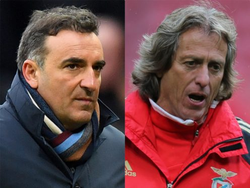Carlos Carvalhal and Jorge Jesus face British opposition this week (Anthony Devlin/Nick Potts/PA)