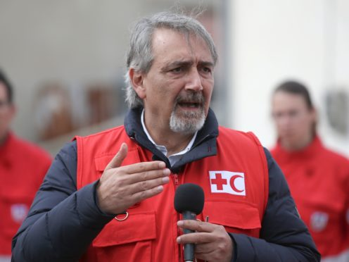 International Federation of Red Cross President Francesco Rocca (Giannis Papanikos/AP)
