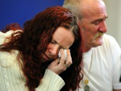 Mick Philpott and wife Mairead speak to the media at Derby Conference Centre, Derby following a fire at their home last week which claimed the lives of six of his children (Rui Vieira/PA)
