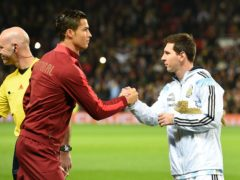 Cristiano Ronaldo and Lionel Messi's talent has been recognised again Martin Rickett/PA)