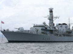 HMS Northumberland (Niall Carson/PA)