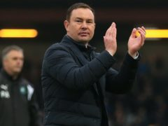 Morecambe manager Derek Adams applauded his side's performance at Colchester (Nigel French/PA)