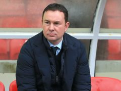 Morecambe manager Derek Adams hailed their win over Grimsby (Nigel French/PA)