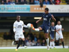 Timothee Dieng, right, was on target for Southend (Chris Radburn/PA)