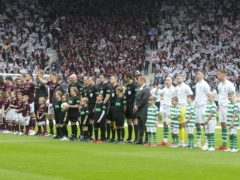 Celtic face Hearts in the Scottish Cup final for the second year running (PA)