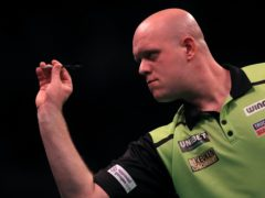 Michael Van Gerwen will spend Christmas away from his family (Simon Cooper/PA)