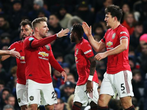 Manchester United's Harry Maguire (right) and his team-mates are doing their bit to make winter better for youngsters (Nigel French/PA)