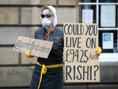 Protesters have already asked the Government to consider increasing support for the sick (Jane Barlow/PA)