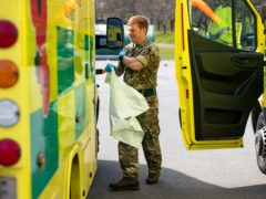 The military supported the ambulance service earlier in the pandemic (Jacob King/PA)