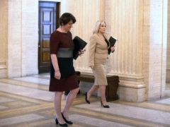 First Minister Arlene Foster, left, and Deputy First Minister Michelle O'Neill (PA)