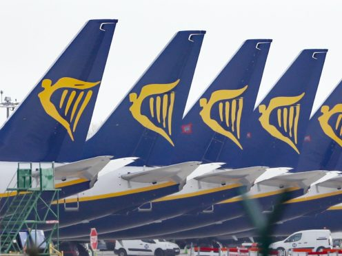 Ryanair flew just two million passengers in November as demand for air travel continued to be hit by coronavirus restrictions (Niall Carson/PA)